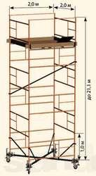 ВЫШКА ТУРА строительная высота 21 метров