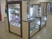 Изготовление торгово-выставочных витрин из стекла и ЛДСП.