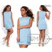 Платье голубого цвета,  размер 50-52.