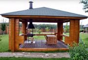 бани,  беседки,  дачные загородные дома из натурального дерева